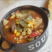 Slow Cooker Beef & Veggie Soup