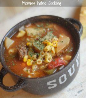Slow Cooker Beef & Veggie Soup