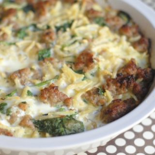 Sausage & Spinach Breakfast Pie