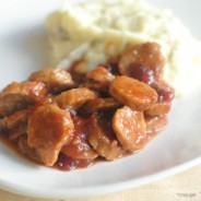 Slow Cooker Cranberry Chili Sausage