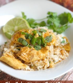 Slow Cooker Moroccan Spiced Stew with Cilantro Lime Rice