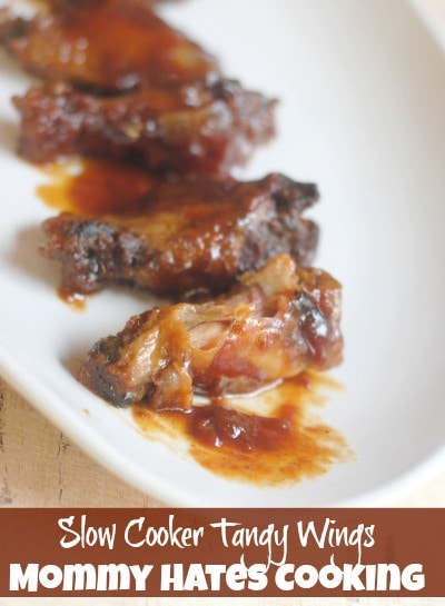 Slow Cooker Tangy Wings I Mommy Hates Cooking
