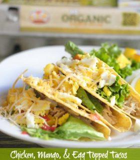 Mango, Chicken, & Egg Topped Tacos