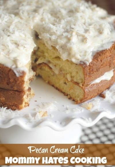 Pecan Cream Cake I Mommy Hates Cooking