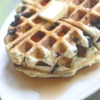 Spinach & Blueberry Waffles