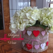 Folgers Coffee Canister Vase