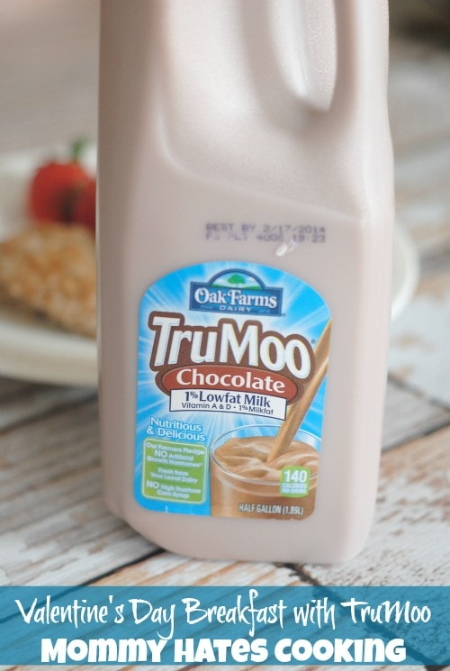 Heart Shaped Sausage & Eggs with TruMoo for Valentine's Day I Mommy Hates Cooking #TruMoo