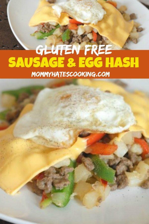 Cheesy Sausage and Egg Hash