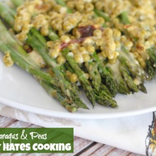 Cheesy Asparagus & Peas