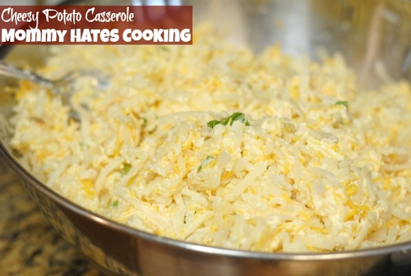 Cheesy Potato Casserole I Mommy Hates Cooking #OreIdaHashbrown #Shop