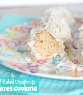 Coconut Glazed Baked Doughnuts