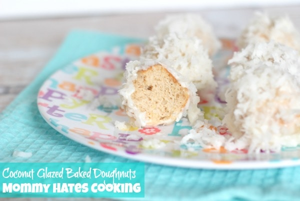 Coconut Glazed Baked Doughnuts I Mommy Hates Cooking
