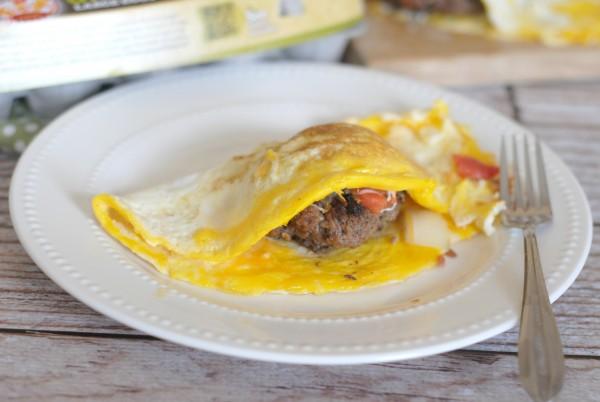 Hamburger Stuffed Omelet