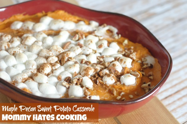 Maple Pecan Sweet Potato Casserole I Mommy Hates Cooking