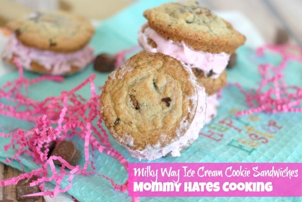 Mommy Hates Cooking Milky Way Ice Cream Cookie Sandwiches - Mommy ...