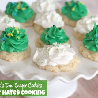 St. Patrick's Day Old Fashioned Cookies