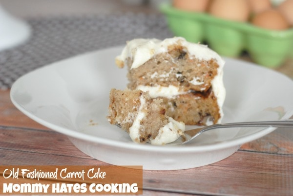 Old Fashioned Carrot Cake {Gluten Free Optional}