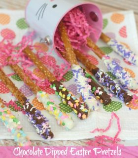 Chocolate Dipped Easter Pretzels