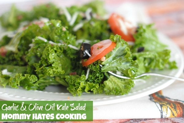 Garlic & Olive Oil Kale Salad I Mommy Hates Cooking