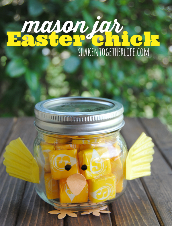 Mason jar easter chicks make bake create mommy hates cooking mason jar easter chick starburst negle Gallery