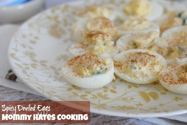 Spicy Deviled Eggs I Mommy Hates Cooking #ProudofIt #ad