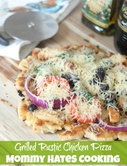 Grilled Rustic Chicken Pizza I Mommy Hates Cooking #DressingitUp #PantryInsiders