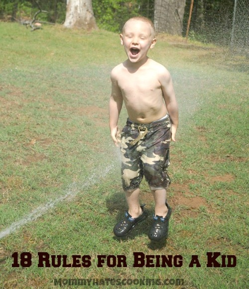 18 Rules for Being a Kid #PopsicleRules #ad