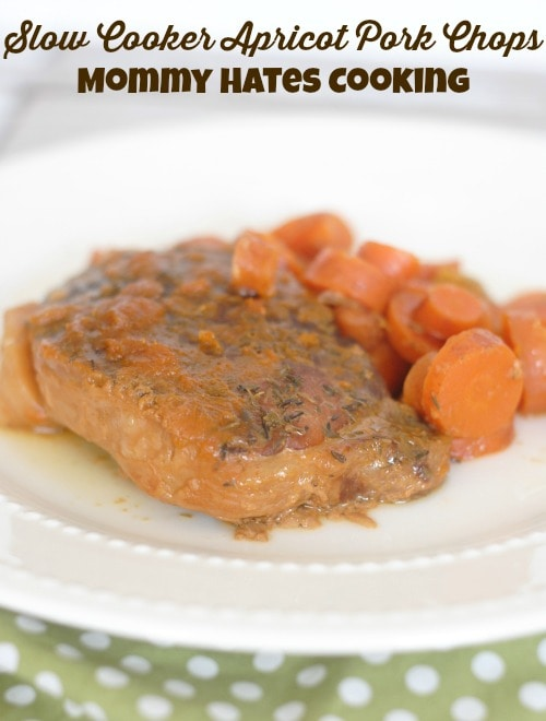 Slow Cooker Apricot Pork Chops I Mommy Hates Cooking