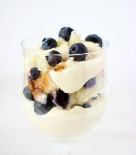 No Bake Blueberry Muffin Cheesecake Trifle & Make Bake Create