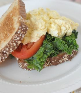 Kale Egg Salad Sandwiches