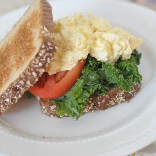 Kale Egg Salad Sandwich