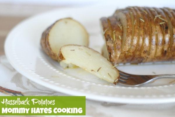 Recipe - Hasselback Potatoes I Mommy Hates Cooking #GardenFresh
