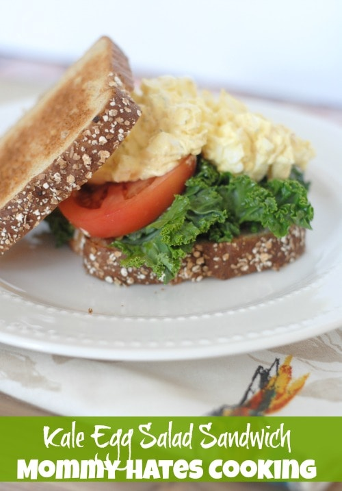 Recipe - Kale Egg Salad Sandwiches #GreatDay
