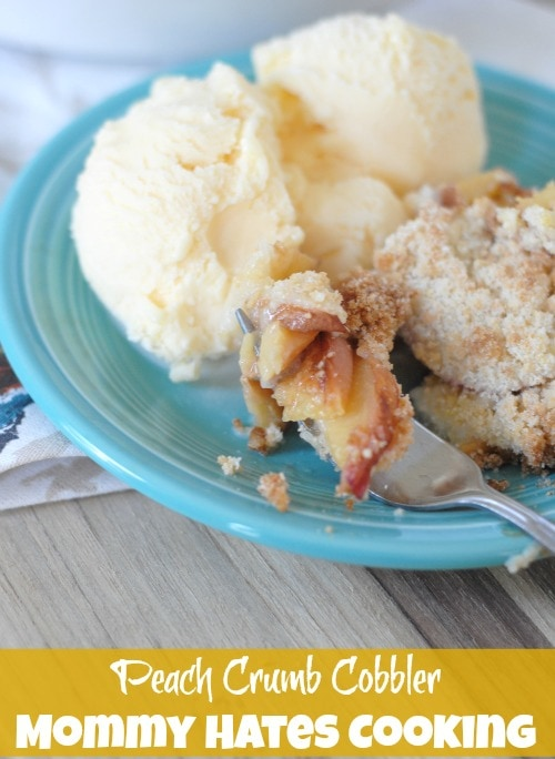 Recipe - Peach Crumb Cobbler I Mommy Hates Cooking