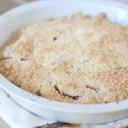 {Decades of Desserts}  Peach Crumb Cobbler