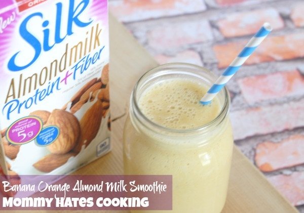 Banana Orange Almond Milk Smoothie I Mommy Hates Cooking #SilkAlmondBlends #ad