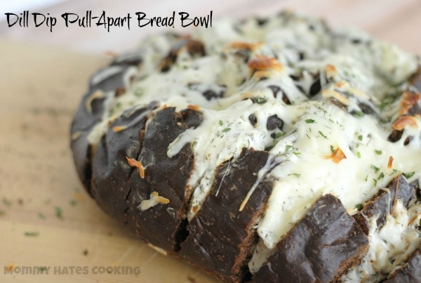 Dill Dip Pull-Apart Bread Bowl I Mommy Hates Cooking