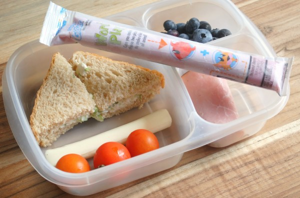 Cucumber Sandwiches Lunchbox Idea #GoGurt #Sponsored