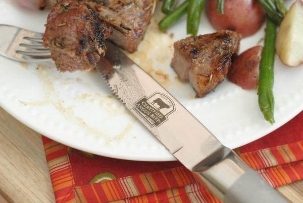Mediterranean Grilled Steaks #CertifiedAngusBeef #Sponsored