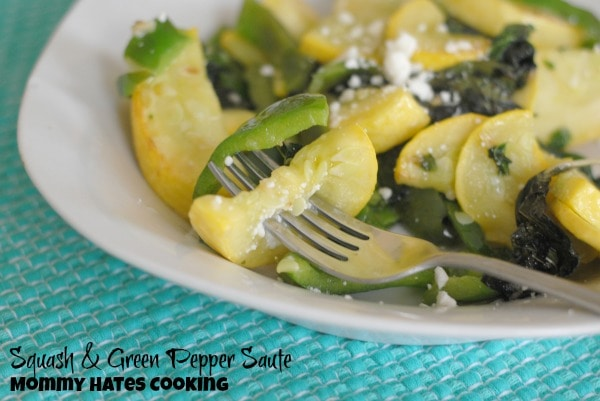 Squash & Green Pepper Saute I Mommy Hates Cooking