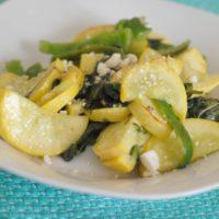 Squash & Green Pepper Saute