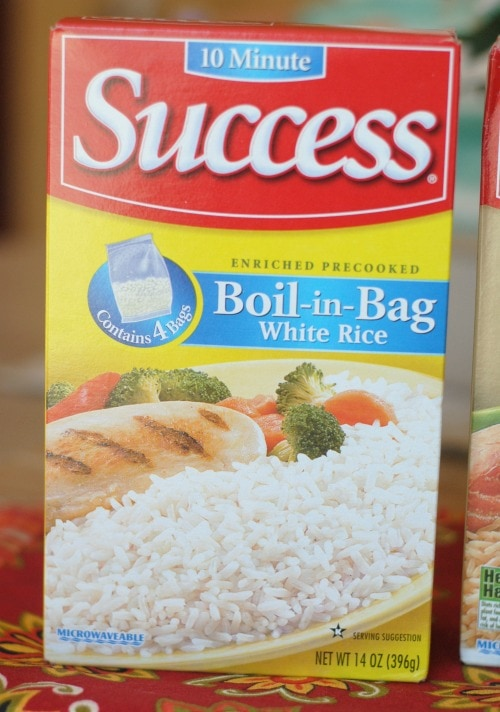 success rice out of the bag