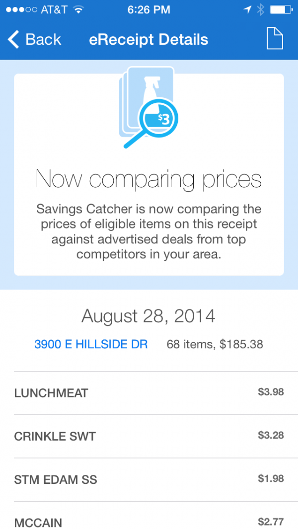 Savings Catcher #SavingsCatcher #Sponsored