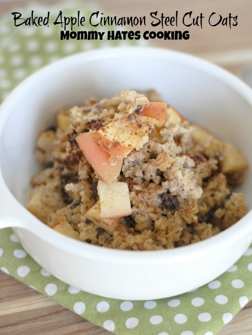 Baked Apple Cinnamon Steel Cut Oats with Udi's #AncientGrains #Sponsored