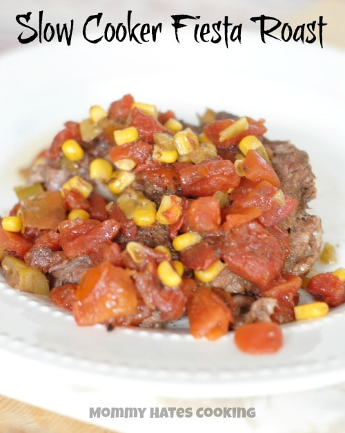 Slow Cooker Fiesta Roast #CansGetYouCooking #ad