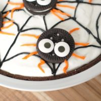 No Bake Spider Pudding Pie