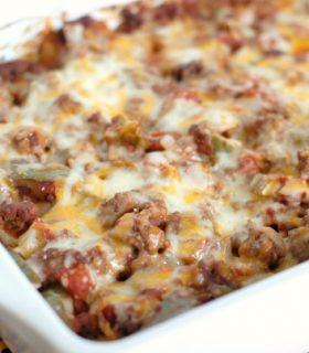 Cheesy Potato Taco Casserole