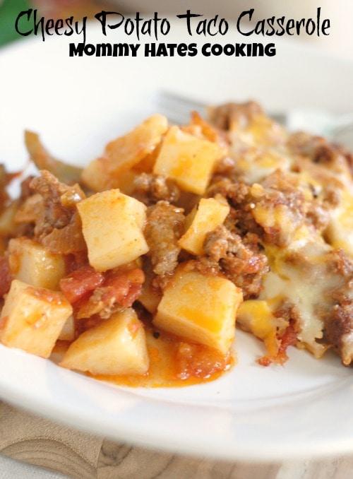 Cheesy Potato Taco Casserole #SimplyPotatoes #Sponsored