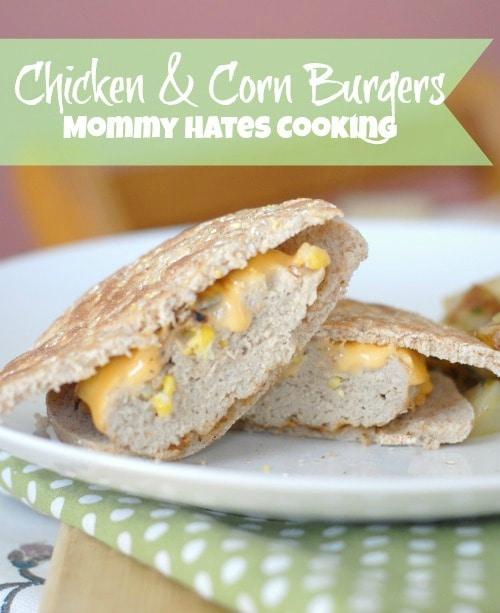 Chicken & Corn Burgers #ILikeVeggies #CleverGirls #Sponsored