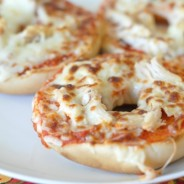 Cheesy Chicken Pizza Bagels